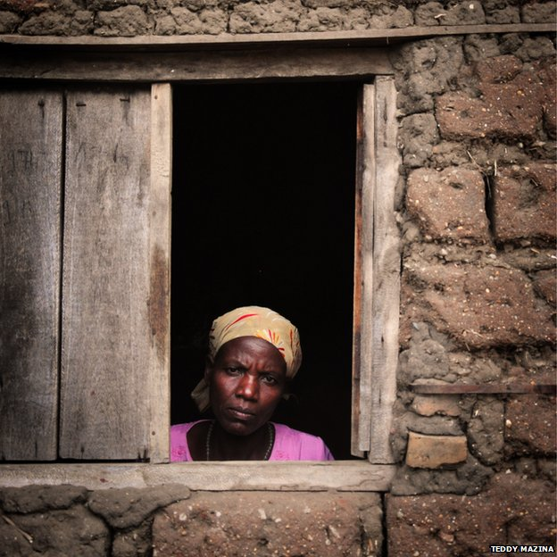 Rosetta, 44, was gang-raped in 1999 during Burundi's civil war.PIC: Copyright Teddy Mazina
