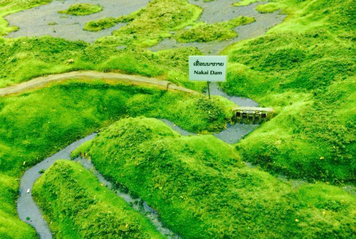 3D representation of the Nakai dam
