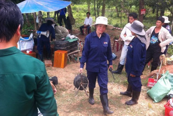 Lao women leading effort to clear millions of unexploded bombs left over from Vietnam War. PIC: Courtesy ABC News - Sally Sara