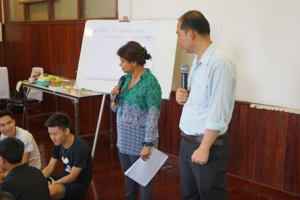 Malaysian IWRAW trainer Dorothy with Mitt, Lao interpreter